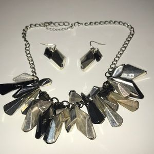 Perfect statement necklace and earring set